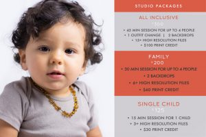 Price list for holiday photoshoots in Santa Cruz