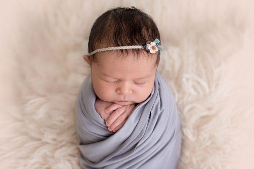 newborn girl fur