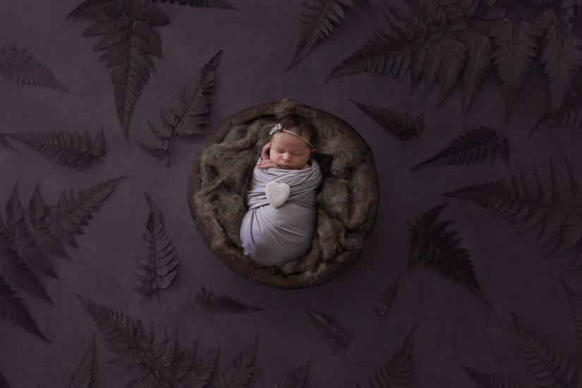 Holiday newborn photos