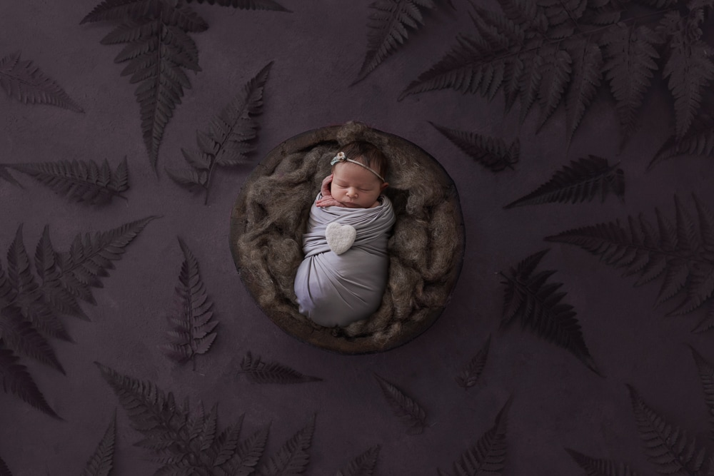 Holiday newborn photos