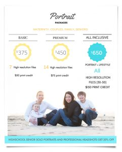 family photography prices