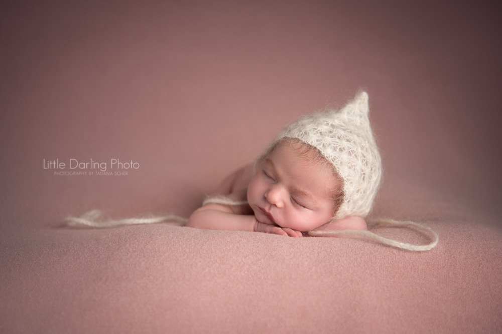 Newborn sleeping girl