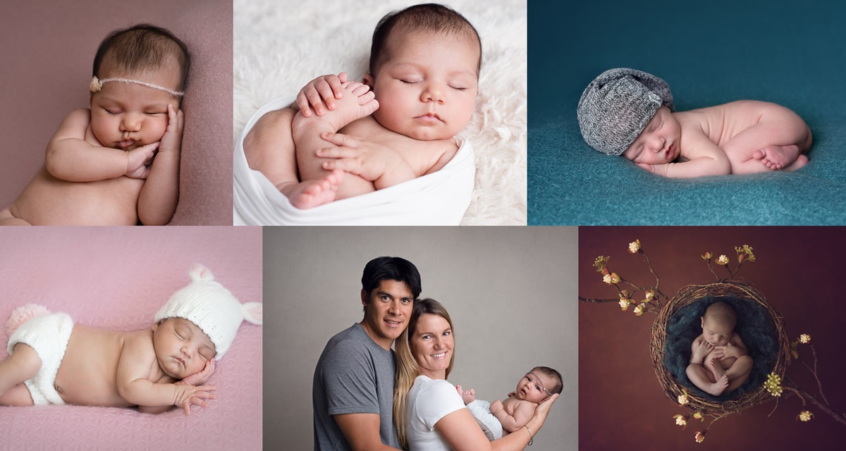 Custom newborn photography photos