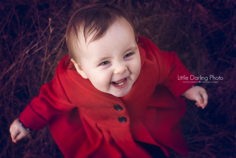 Girl with a red coat
