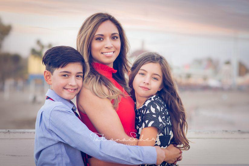 Board walk family photo