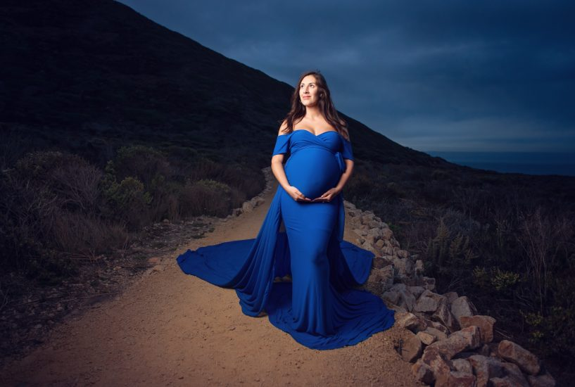 Night maternity photo