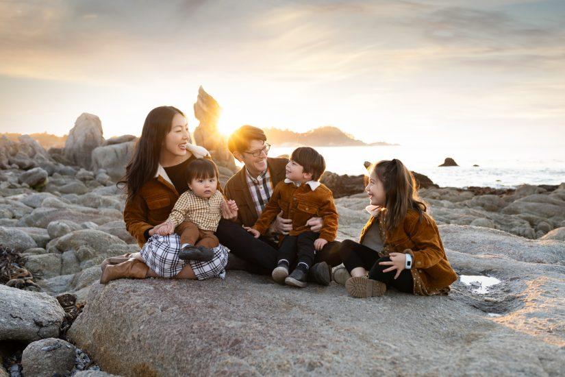 Family photo Monterey Bay