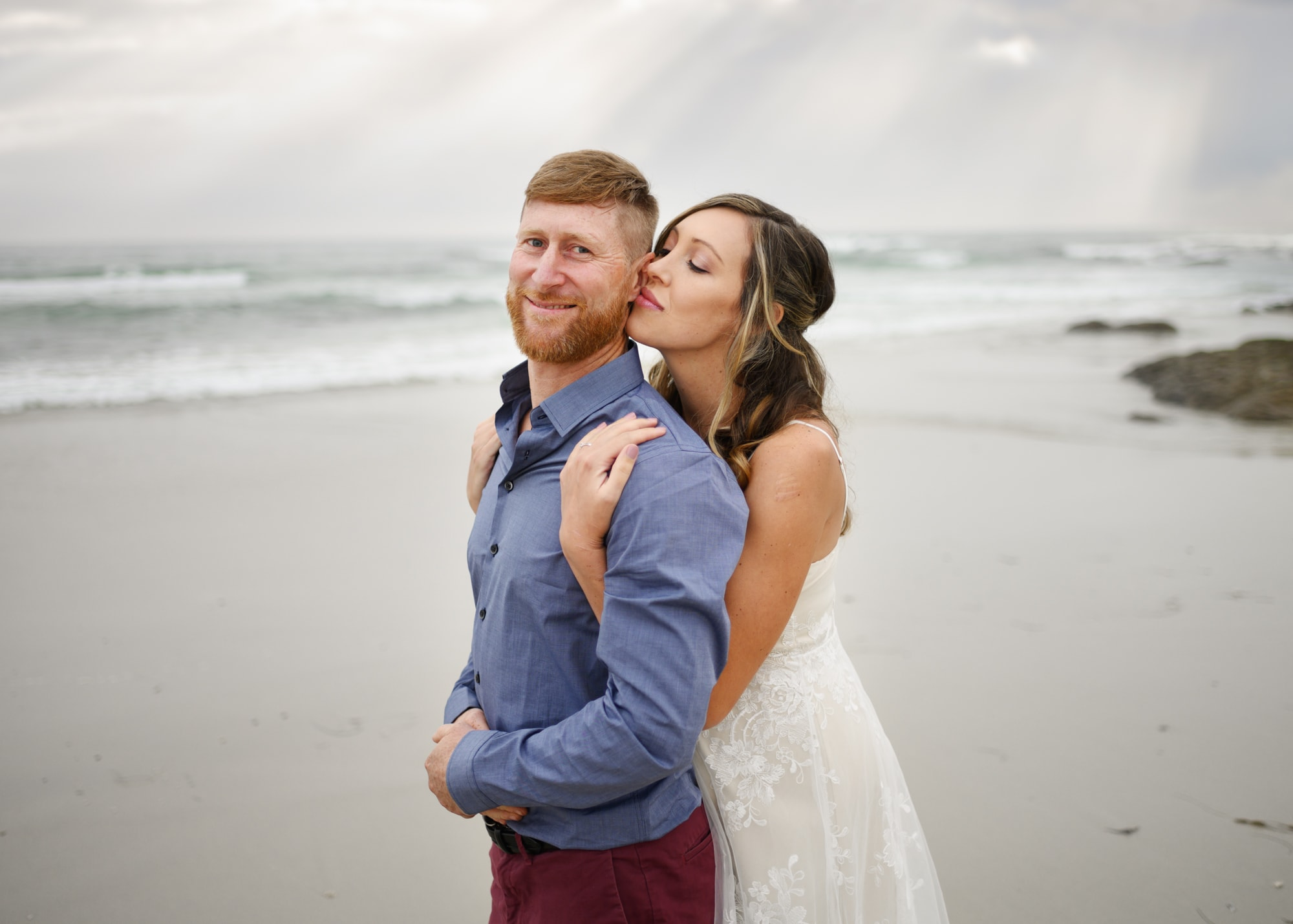 Elopement at Asilomar beach
