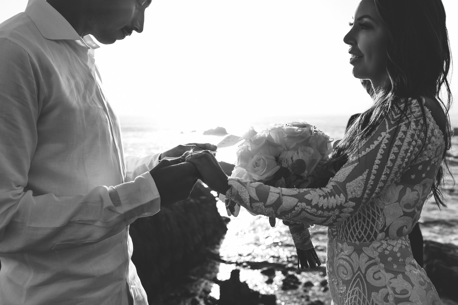 Monterey Bay elopement photo