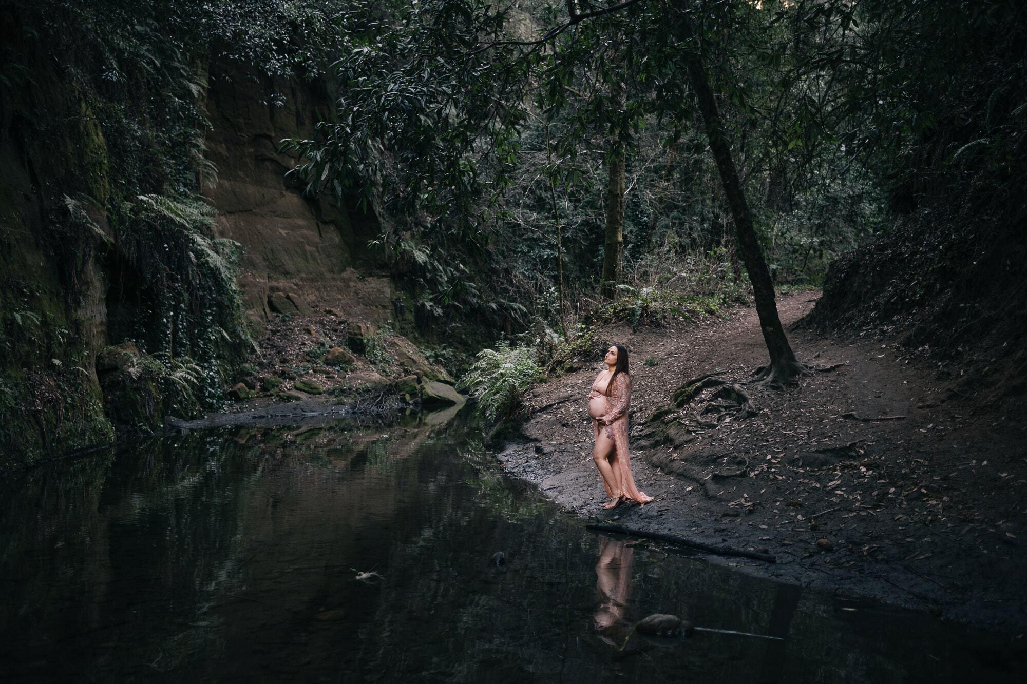 Redwoods maternity photo