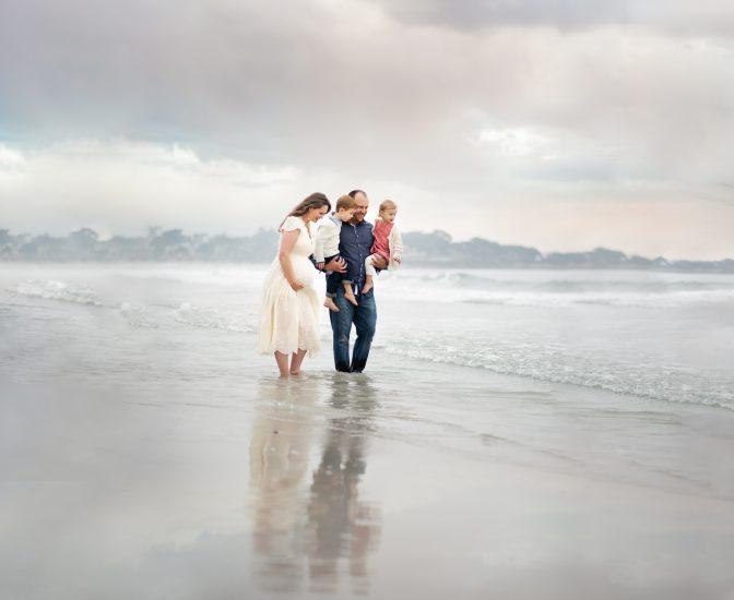 Carmel beach maternity photo