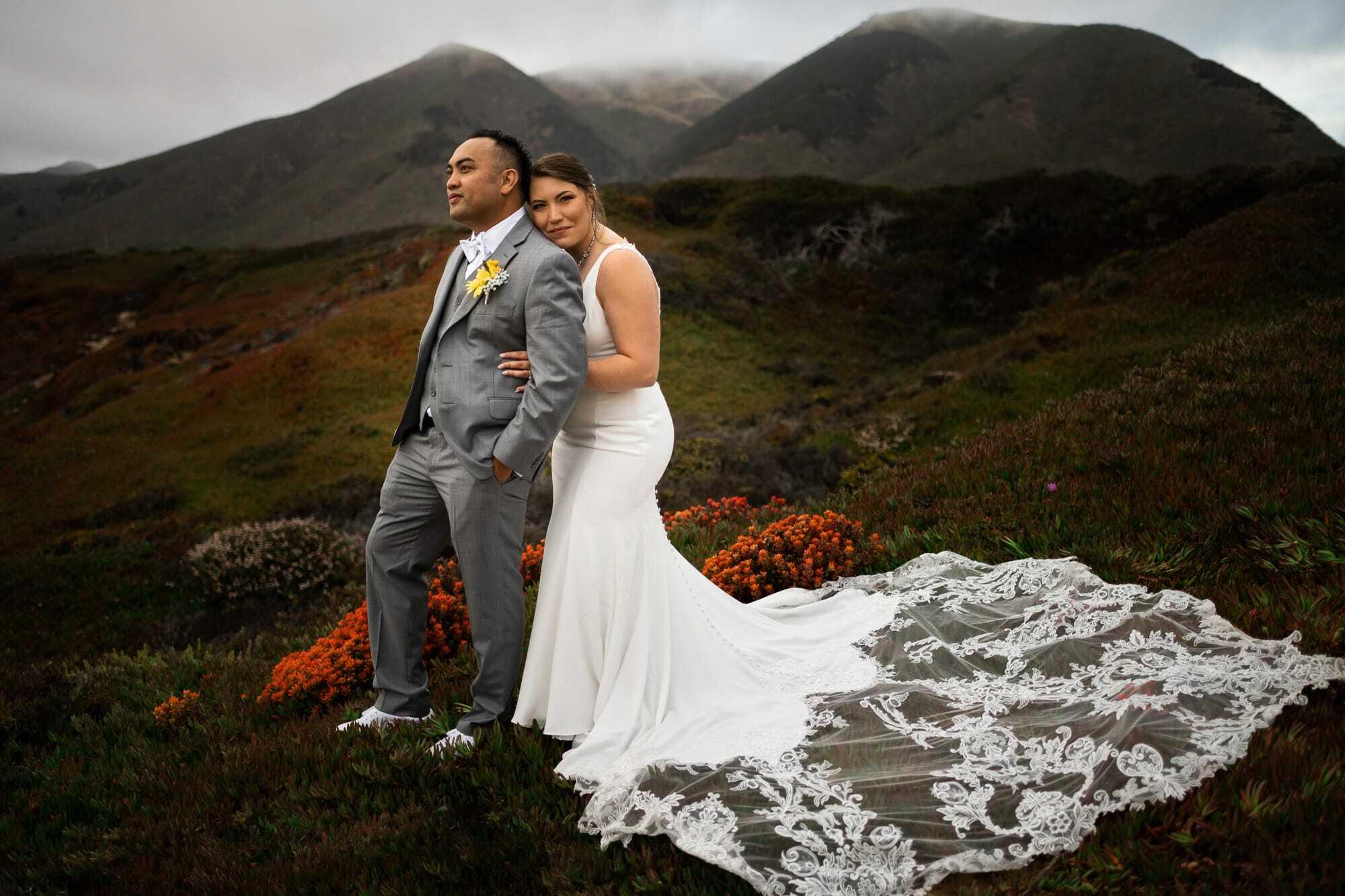 Carmel elopement portrait