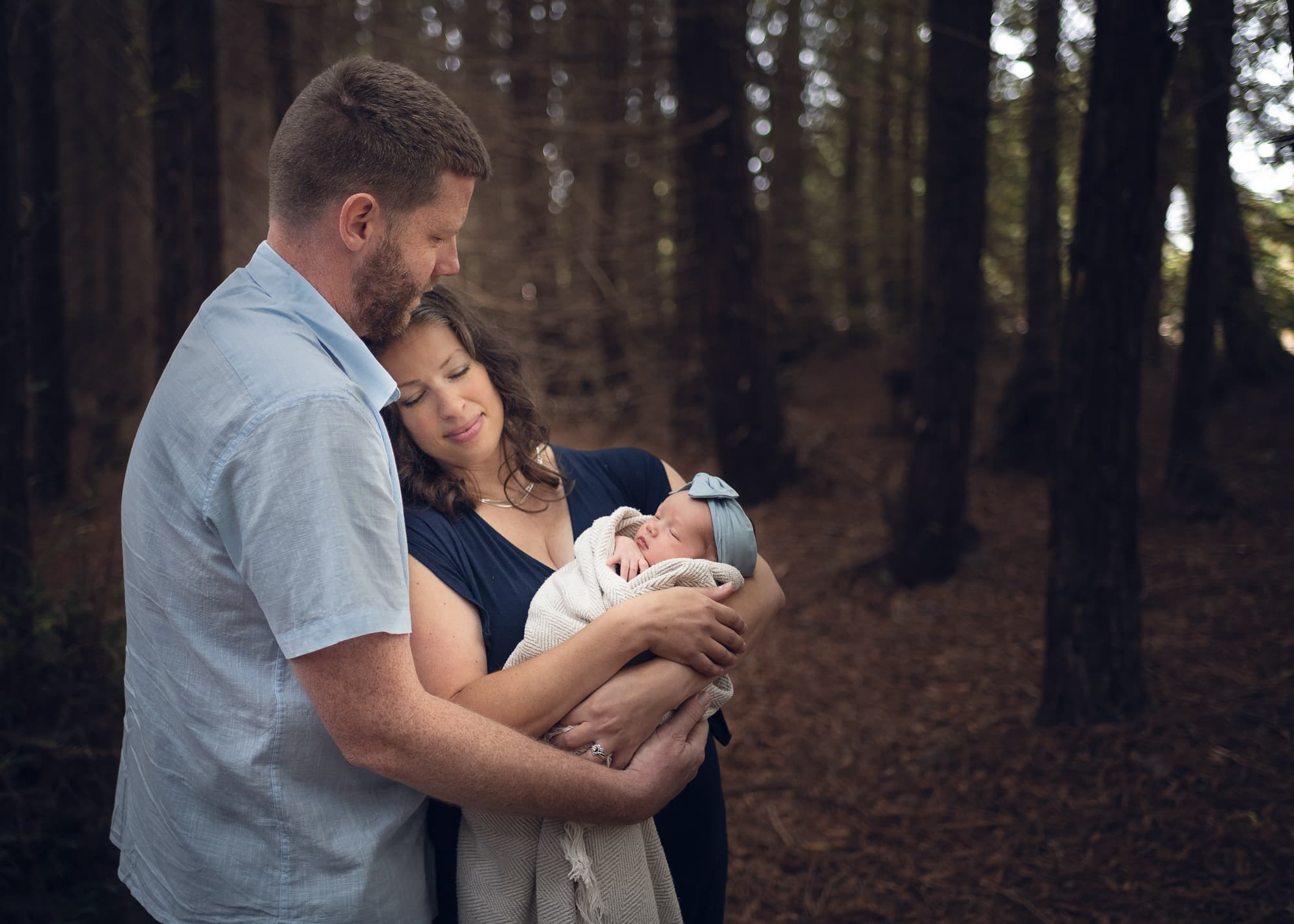 Newborn photography outdoors