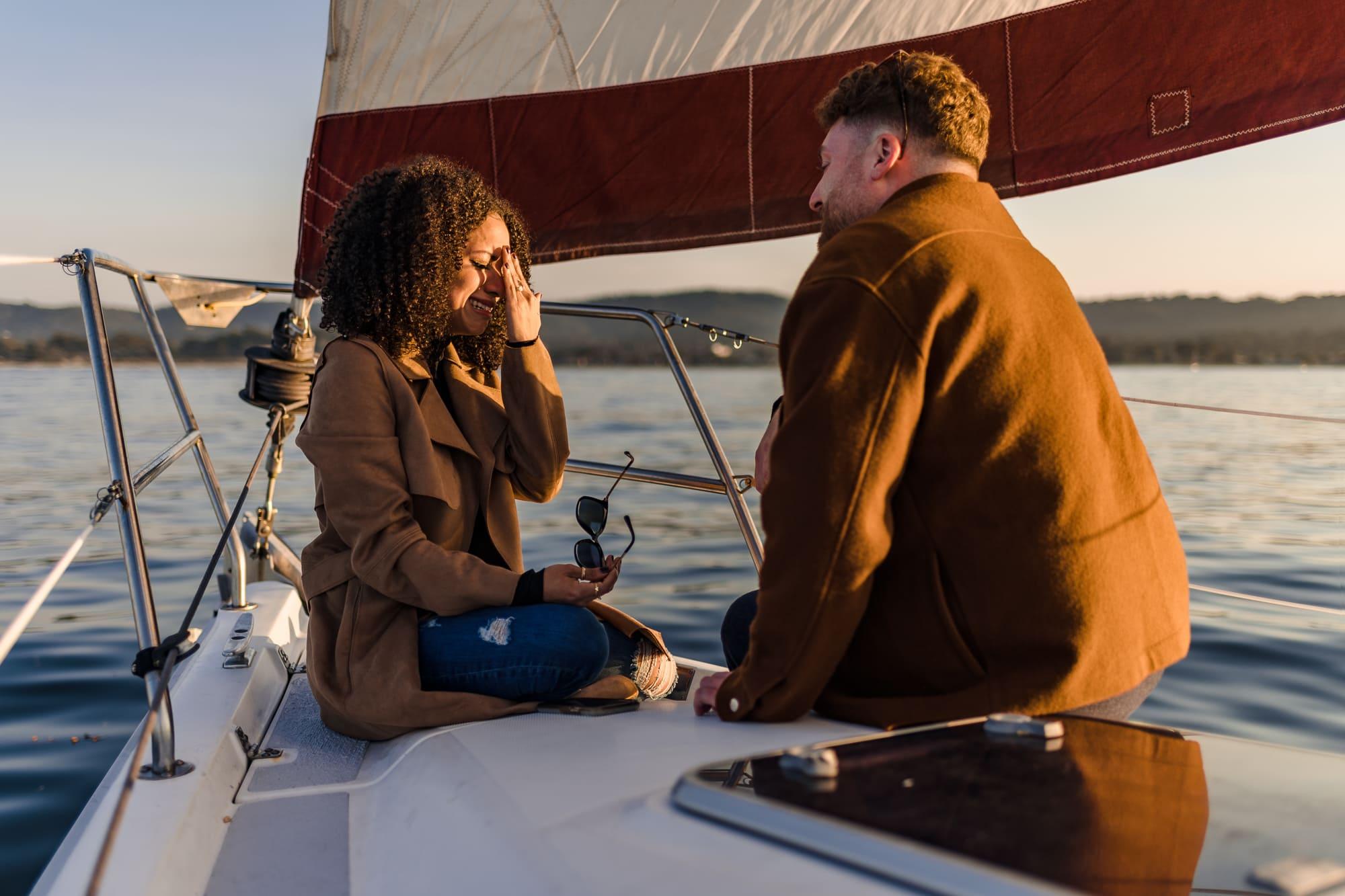 Sailboat engagement